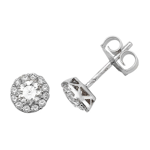 18K White Gold G/H SI2 Round 26D 0.68ct 1.07g
