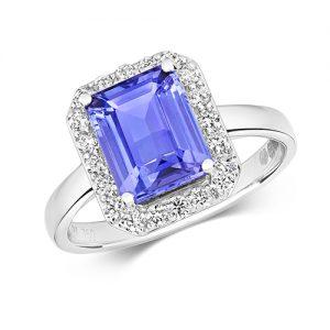 18KT 12 Diamonds 0.37ct 1 Tanzanite 2.40ct 3.70g
