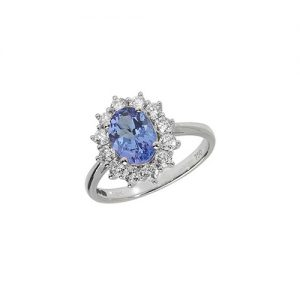 18KT 12 Diamonds 0.56ct 1 Tanzanite 1.20ct 3.12g