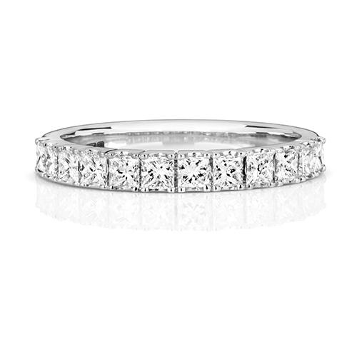 PLATINUMINUM DIAMOND HALF ETERNITY RING