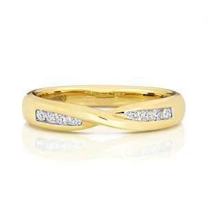 YELLOW GOLD CHANNEL SET G SI1